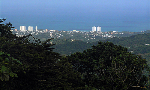 Luquillo Beach viewed from El Yunque National Rain Forest